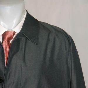 Burberry London Indigo Blue Cotton Trench Coat 48R